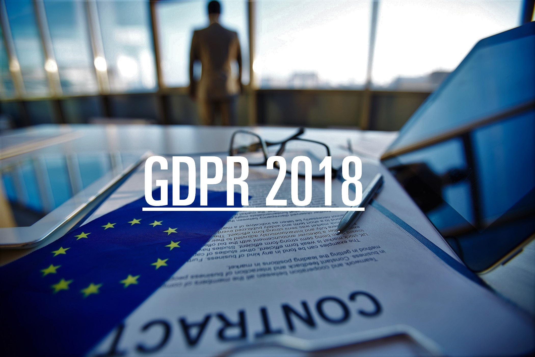 A contract indicating the GDPR implications for marketing that will take effect on May 25th 2018.