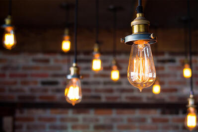 Lightbulbs representing intelligent outreach with customers