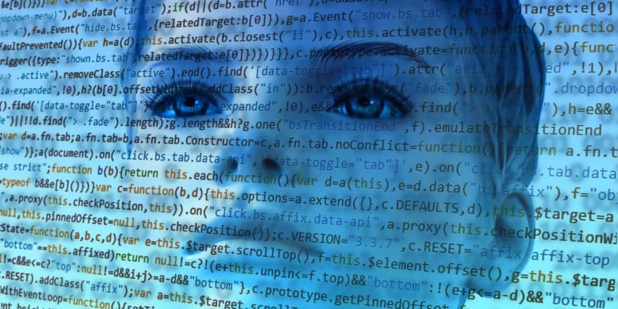 A human model behind codes of data representing how personal data is is stored after the customer relationship has ended.