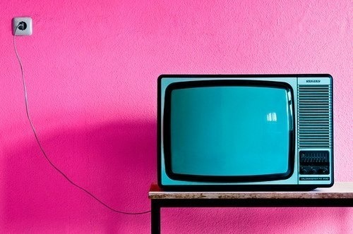 A TV set that illustrates people love watching videos